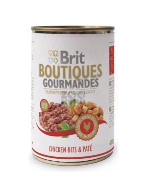 BRIT BOUTIQUES GOURMANDES - Консерва хапки в пастет с пилешко месо